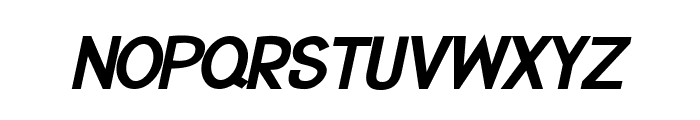 CRU-Suttinee-Bold-Italic Font UPPERCASE