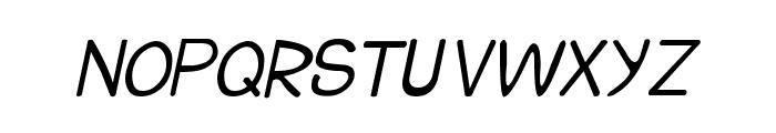 CRU-Suttinee-Hand-Written-Italic Font UPPERCASE