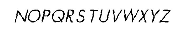 CRU-Teerapong-Italic Font UPPERCASE