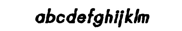 CRU-Teerapong-ItalicBold Font LOWERCASE