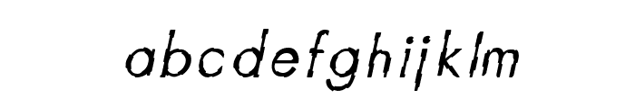 CRU-Teerapong-Italic Font LOWERCASE