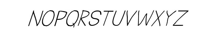 CRU-Todsaporn-Hand-Written-Italic Font UPPERCASE