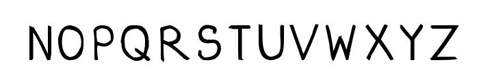 CRU-dissaramas-Hand-Written Bold Font UPPERCASE