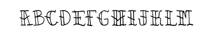 CRU-kiettipoom Font UPPERCASE