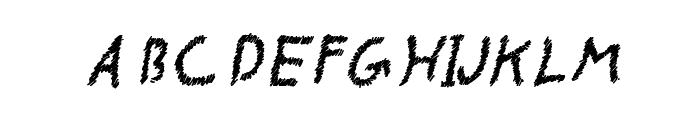 CRU-pokawin-Alize pencil-Italic Font UPPERCASE