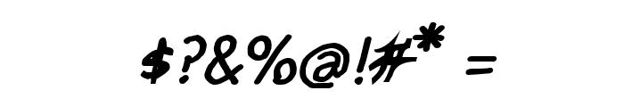 CRU-pokawin-Hand-Written Italic bold Font OTHER CHARS