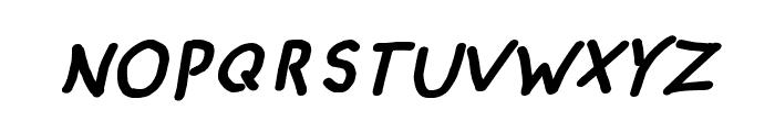 CRU-pokawin-Hand-Written Italic bold Font UPPERCASE