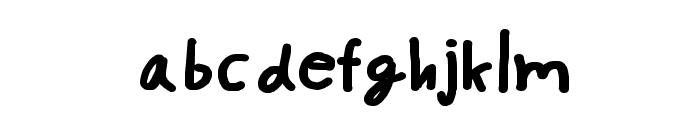 CRU-pokawin-Hand-Written bold Font LOWERCASE