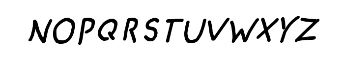 CRU-pokawin-Hand-Written italic Font UPPERCASE