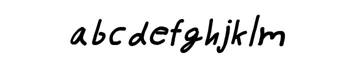 CRU-pokawin-Hand-Written italic Font LOWERCASE