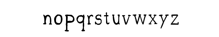 CRU-sittirong Font LOWERCASE