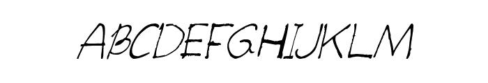 CRU-teerapong-Hand-Written Font UPPERCASE