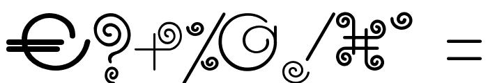 CRUL.TTF Font OTHER CHARS