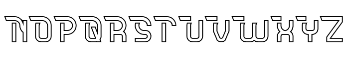 CRUMBLE-Hollow Font UPPERCASE