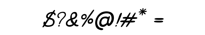 CRUPimpaveeHandWritten2Italic Font OTHER CHARS
