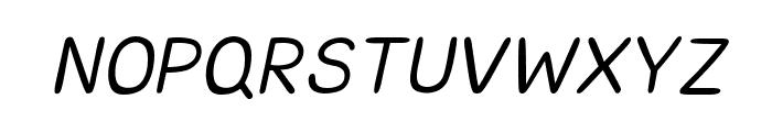 CRUPimpaveeHandWritten2Italic Font UPPERCASE
