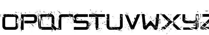 CRUSHED Font UPPERCASE