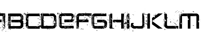 CRUSHED Font LOWERCASE