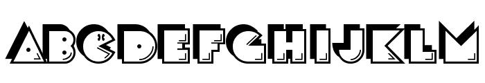 CrackMan Font UPPERCASE