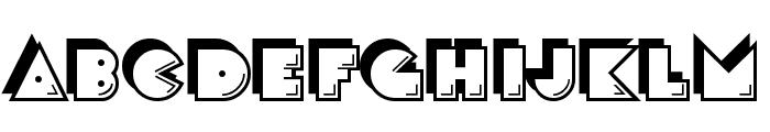 CrackMan Font LOWERCASE