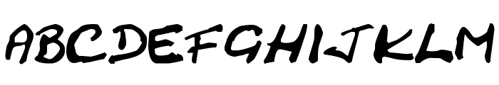 Cracked Johnnie Font LOWERCASE