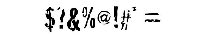 Crackhouse Font OTHER CHARS