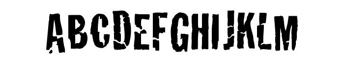Crackhouse Font UPPERCASE