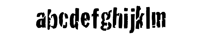 Crackhouse Font LOWERCASE