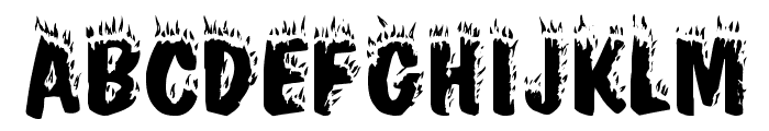 Crackling Plain Font UPPERCASE