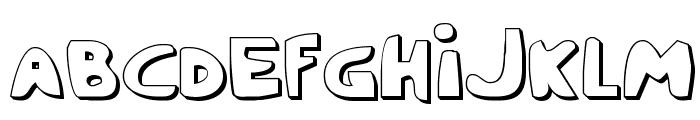 Crappity-Crap-Crap 3D Font UPPERCASE