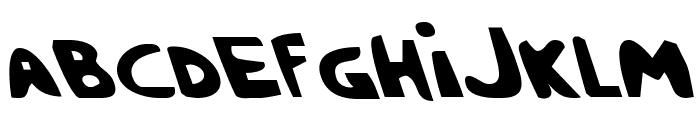 Crappity-Crap-Crap Leftalic Font UPPERCASE