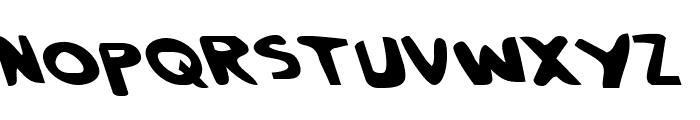 Crappity-Crap-Crap Leftalic Font LOWERCASE