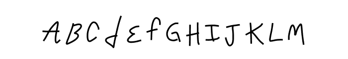 Crappy Font Font LOWERCASE