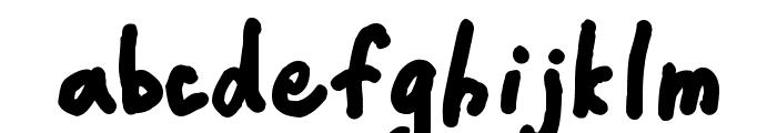 CrappyDanBlack Font LOWERCASE