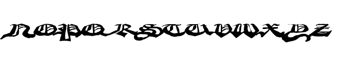 CrappyGothic Font UPPERCASE