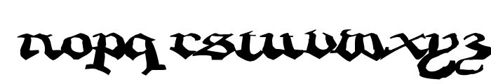 CrappyGothic Font LOWERCASE