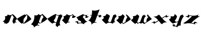 Crash Bold Font LOWERCASE