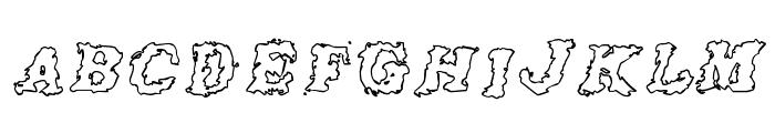 Crash Outline Font UPPERCASE