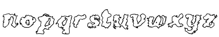 Crash Outline Font LOWERCASE