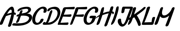 Crash  Test Italic Font UPPERCASE