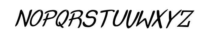 Crash  Test Italic Font LOWERCASE