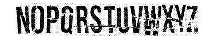 Crash test dummy Font UPPERCASE