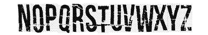 Crash test dummy Font LOWERCASE