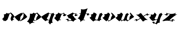 Crash Font LOWERCASE
