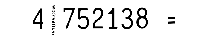 CrashNumbering-Gothic Font OTHER CHARS