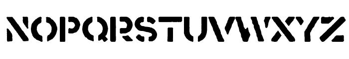 Crass Font UPPERCASE