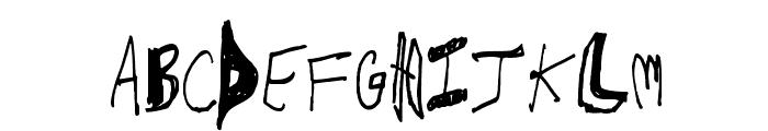 CrawfishPopsicle Font UPPERCASE
