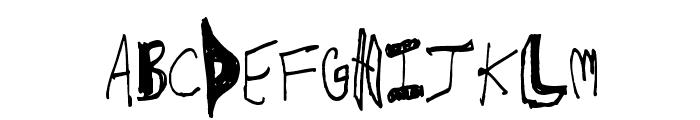 CrawfishPopsicle Font LOWERCASE