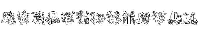 Crayola Kiddy Font Font UPPERCASE