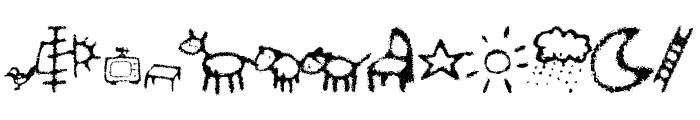 Crayon Kids 2 Font UPPERCASE